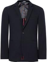 Paul Smith Blue Slim-fit Unstructured Cotton-blend Piqué Blazer