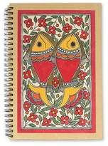 Handmade Paper Journal 40 Pages Madhubani Painting, 'Sea of Flowers'