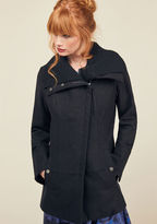 Steve Madden Diagonal Alley Coat in Black in XS
