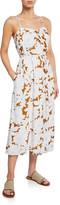 Vince Tropical Blooms Printed Twist-Front Slip Dress
