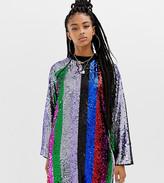 Collusion COLLUSION rainbow sequin mini dress