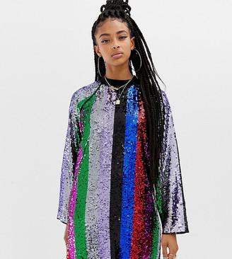 Collusion rainbow sequin mini dress