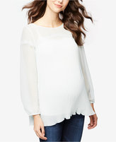 A Pea in the Pod Maternity Lace-Trim Top