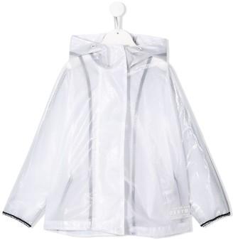 DKNY Logo Patch Mesh Style Rain Jacket