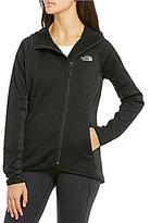 The North Face Arcata Mock Neck Zip Front Solid Fleece Hooded Jacket