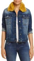 Mavi Jeans Katy Faux-Fur Collar Denim Jacket