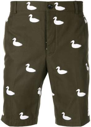 Thom Browne Duck Embroidery Chino Short