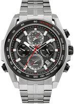 Bulova Men's Chronograph Precisionist Silver-Tone Stainless Steel Bracelet Watch 48.3mm 98B270