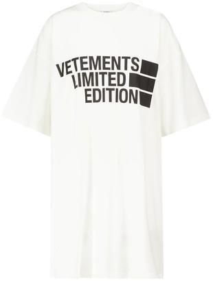 Vetements Logo cotton jersey T-shirt