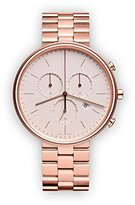 Uniform Wares M40 Quartz Watch with Beige Chronograph Dial with Rose Gold Stainless Steel Strap