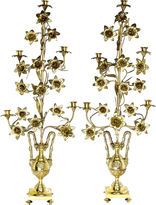 One Kings Lane Vintage Tall Antique French Candelabra, Pair