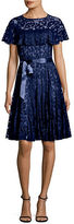 Teri Jon Ruffled Lace Dress