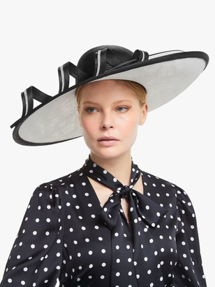 Whiteley Margaux Loop Detail Occasion Hat, Black/White