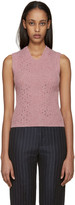 Raf Simons Pink Wool Sleeveless Sweater