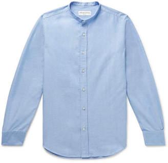 Officine Generale Grandad-Collar Cotton Oxford Shirt