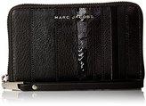 Marc Jacobs Wingman Stripes Zip Wristlet Phone Wallet