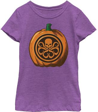 Fifth Sun Women's Tee Shirts PUR - Berry Skull Pumpkin Tee - Juniors