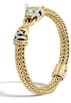 John Hardy Classic Chain 18k Medium Diamond Macan Bracelet