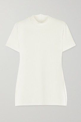 CALÉ Beatrice Ribbed-knit Top - White