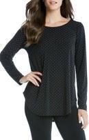 Karen Kane Silver Dot Shirttail Top