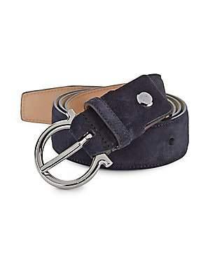 Salvatore Ferragamo Men's Gancio Gunmetal Belt