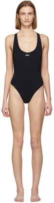 Off-White Off White Black and White One-Piece Swimsuit
