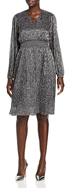 T Tahari Printed Blouson Sleeve Dress