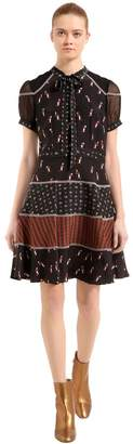 Coach Penguins Print Silk Cady Dress