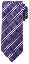Canali Double Stripe Silk Tie