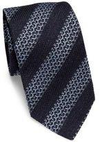 Ermenegildo Zegna Textured Diagonal Striped Tie