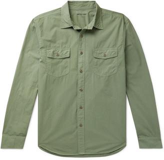Alex Mill Garment-Dyed Cotton-Poplin Overshirt