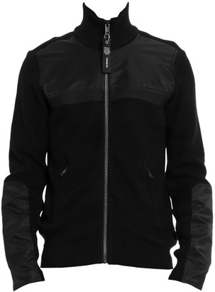 Diesel Many Zip-Up Sleeve Patch Jacket