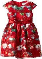 Us Angels Cap Sleeve Floral Party Dress (Toddler/Little Kids)