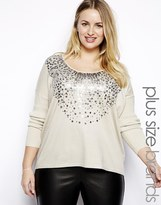 Junarose Blouse With Embellished Neck - Cream