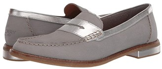 Sperry Seaport PlushWave Woven Penny Loafer (Grey) Women's Shoes