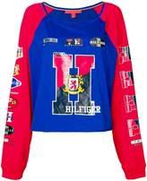 Tommy Hilfiger racer style sweatshirt