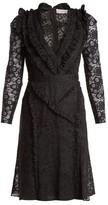 Altuzarra Ourika Valencienne Lace Ruffle-trimmed Dress - Womens - Black