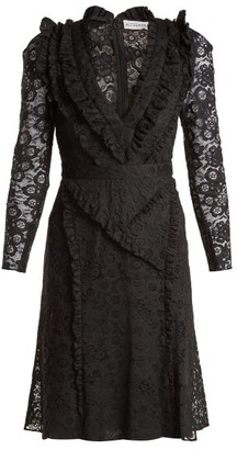 Altuzarra Ourika Valencienne Lace Ruffle-trimmed Dress - Black