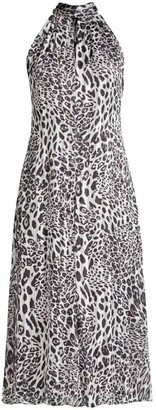 Milly Adrian Leopard-Print Burnout Dress