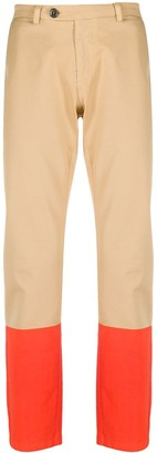 Frankie Morello Colour-Block Chino Trousers