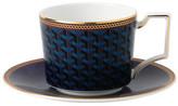 Wedgwood Byzance Teacup and Saucer Blue