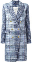 Pierre Balmain tweed coat - women - Cotton/Acrylic/Polyamide/Viscose - 38