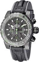 Gv2 Men's Swiss Quartz Chronograph Polpo Black Leather Strap Watch