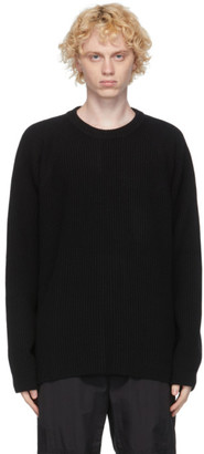 Juun.J Black Knit Cashmere Crewneck Sweater