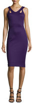 Zac Posen Sleeveless Body-Con Jersey Dress, Purple