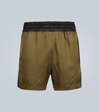 Dries Van Noten Contrast paneled shorts