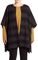 Eileen Fisher, Plus Size Reversible Striped Poncho