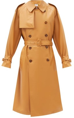 Vetements Double-breasted Leather Trench Coat - Light Brown