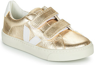 Veja SMALL-ESPLAR-VELCRO girls's Shoes (Trainers) in Gold
