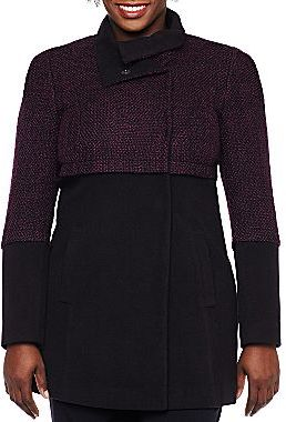 JCPenney Worthington® Mixed Media Wool Coat - Plus